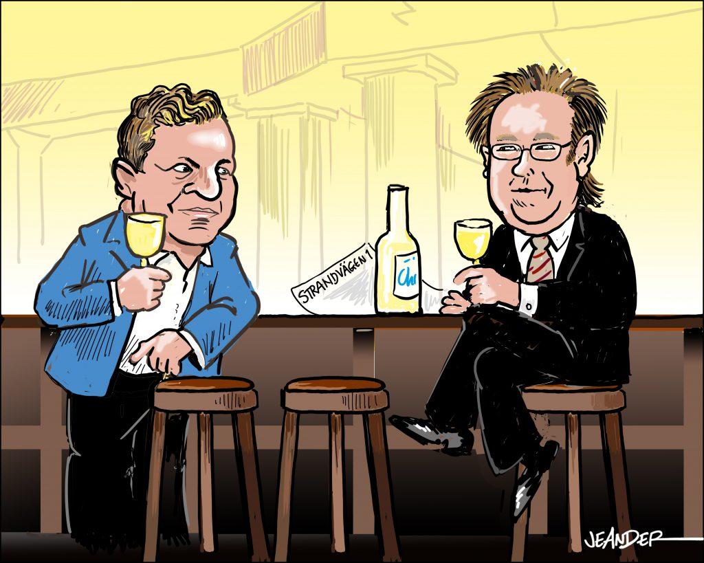 Christen Ager-Hanssen skålar med Fredrik Crafoord
